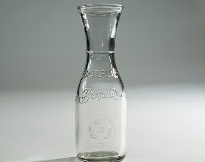 Vintage Milk Bottle - Brasswell's Retro Style Dairy Bottles / Flower Vases Wedding Decor Table Centrepieces / Water Pitcher Carafe