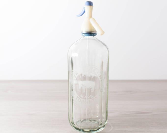 Vintage Siphon Bottle - Glass Soda Dispenser - Vintage Cocktail Alcohol Barware Bottle - Nu Jersey-Creme Co. Toronto / 38oz