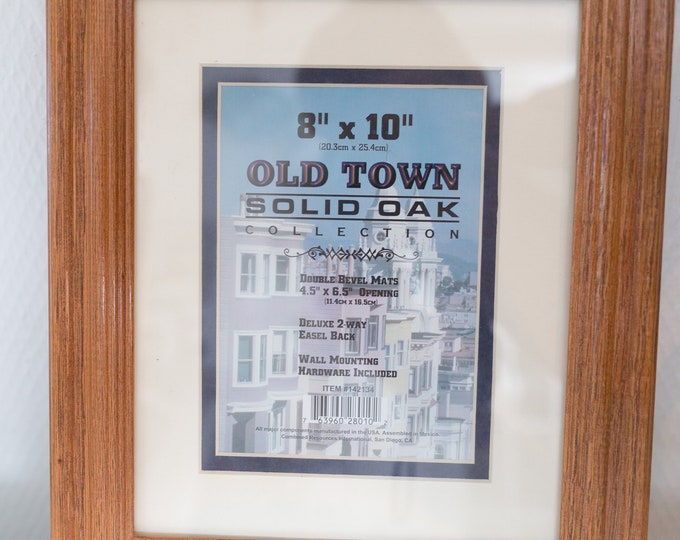 Solid Oak Frame - Wood Frame for Prints, Artwork, Painting Pictures, Mirror