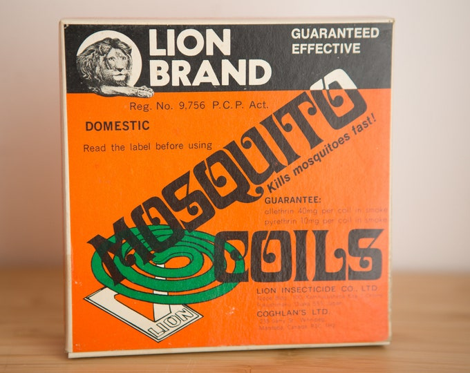 Vintage Insect Repellent Coils - Lion Brand Camping Essentials