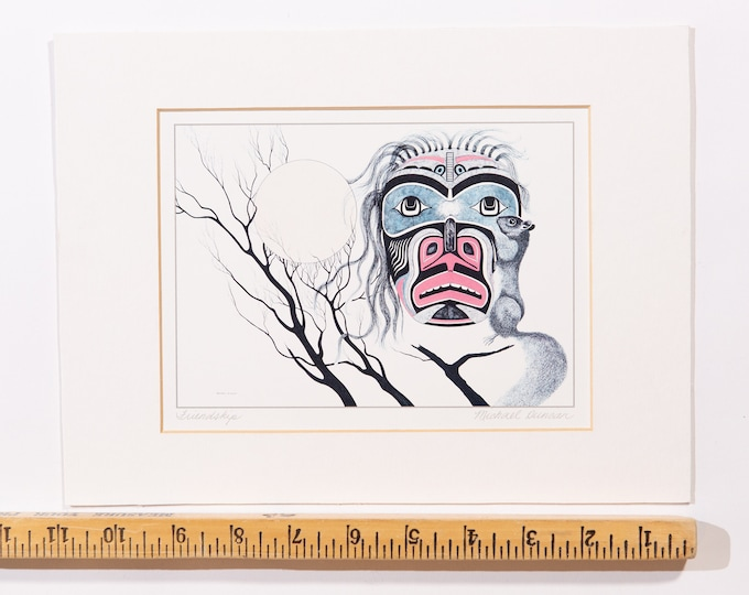 "Michael Duncan Artwork Titled ""Friendship"" - Canadian Aboriginal First Nation Print - Indigenous Art"