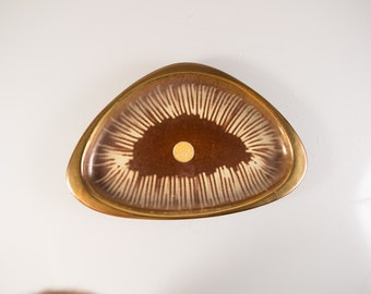 Mid Century Modern Ceramic Tray - Vintage Trinket Dish - Decorative Tray - Gift for Him - Gift for Her - Jewelry Dish