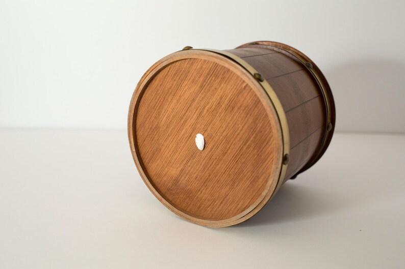 Retro Tabak Keukens : Vintage houten tabak emmer met goud metaal detaillering etsy