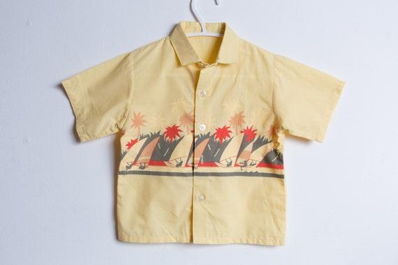 Vintage Kids Shirt - 60's Toddler Short Sleeve Str