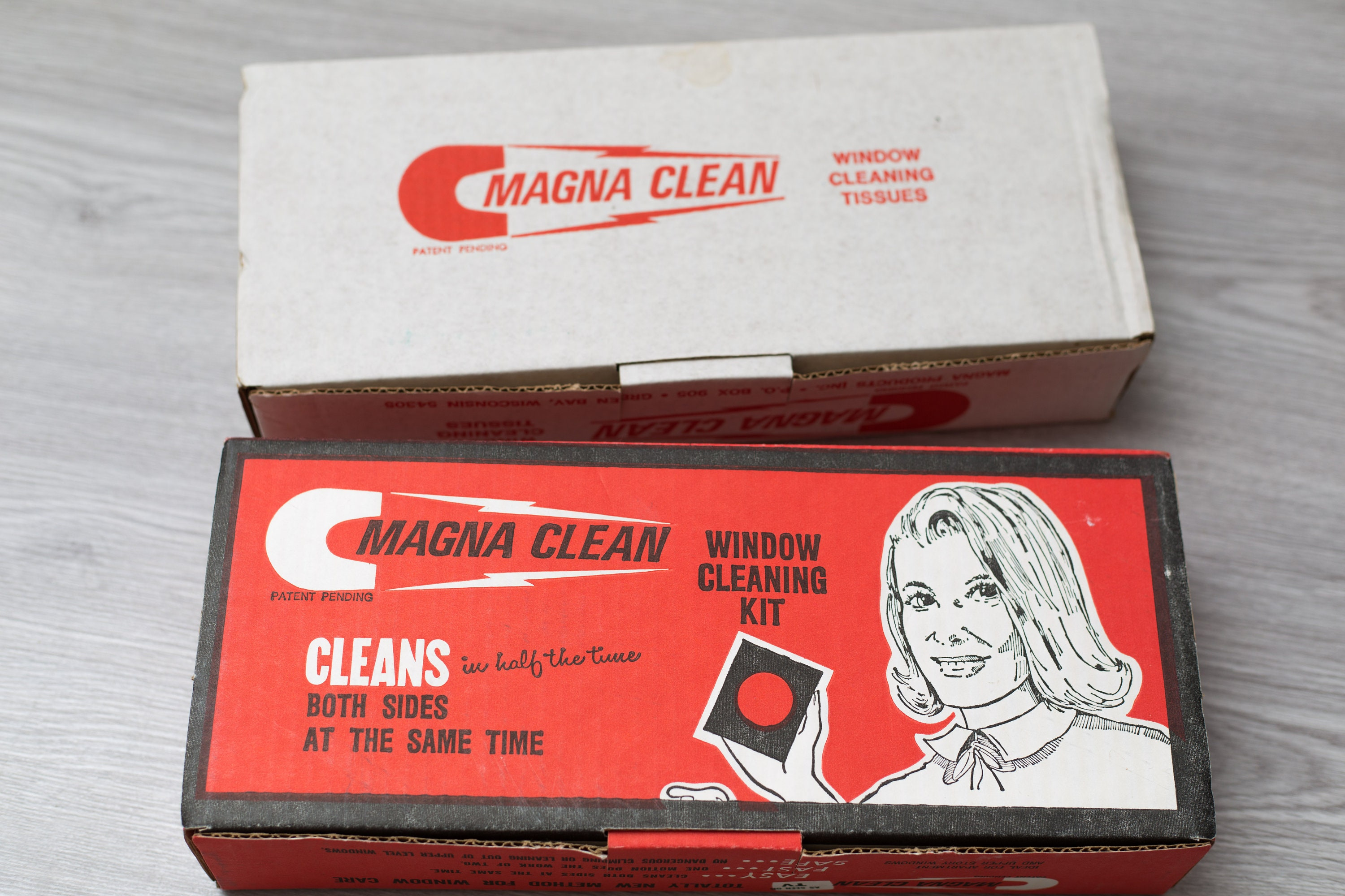 vintage window cleaning kit 1986 magna clean magnetic window cleaner cleans both sides retro advert domestic vintage