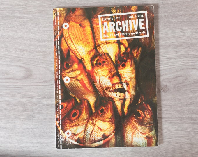 1998 Archive Magazine Volume 5 - Lürzer's International Ad's, TV Posters, and World-Wide - Creative Agency Advertisements Photography Zine