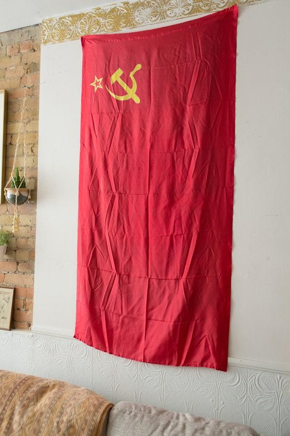 1980/'s USSR Russian Soviet Union Memorabilia Vintage Soviet Flag
