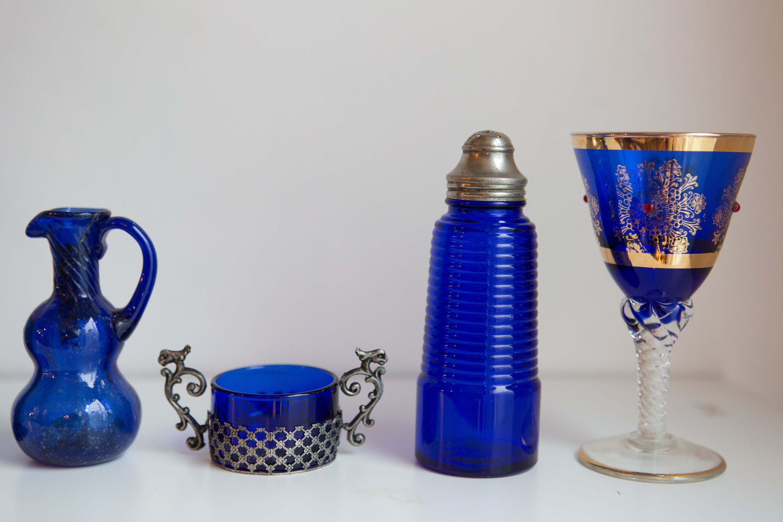 10 piece Glassware - Antique and Vintage Collectible Navy ...