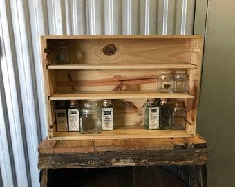 Wine Box Spice Shelf