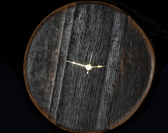 Reclaimed Wine Stave Clock 2