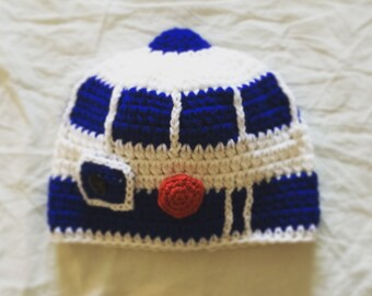80092a21563 R2D2 Hat - Crochet Star Wars Droid Hat - Kids Star Wars Costume - Comic-Con  Costume - Baby Cosplay - Baby Star Wars - Newborn Star Wars