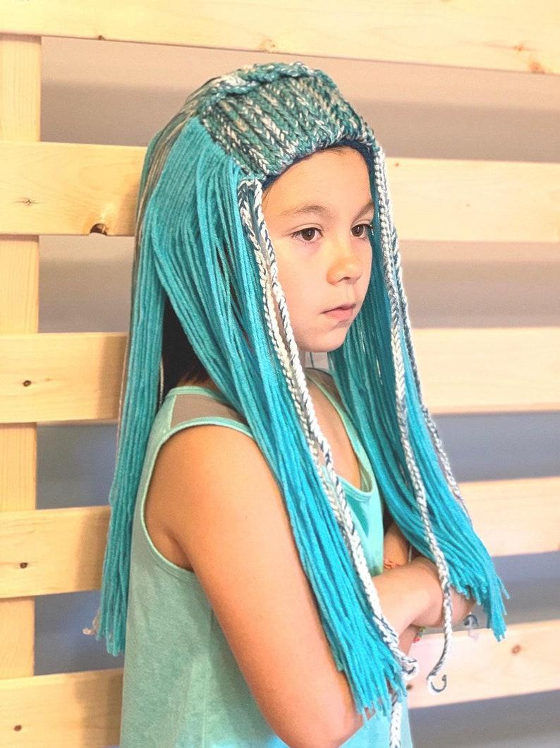 Disney Descendants 3 New Style Uma Hair Wig -Halloween Disney Descendants Villain Uma Hair Kids Halloween Costume New Uma Wig Toddler