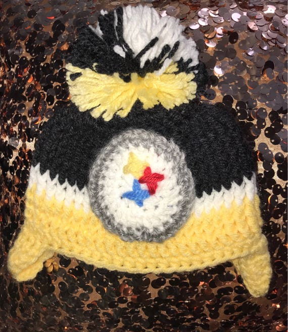 Baby Steelers Hat Crochet Pittsburgh Steelers Tobogan  d1f8ef820