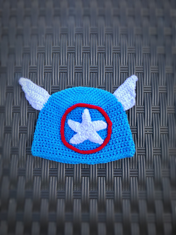 Captain America Hat Kids Halloween Costume Toddler Etsy