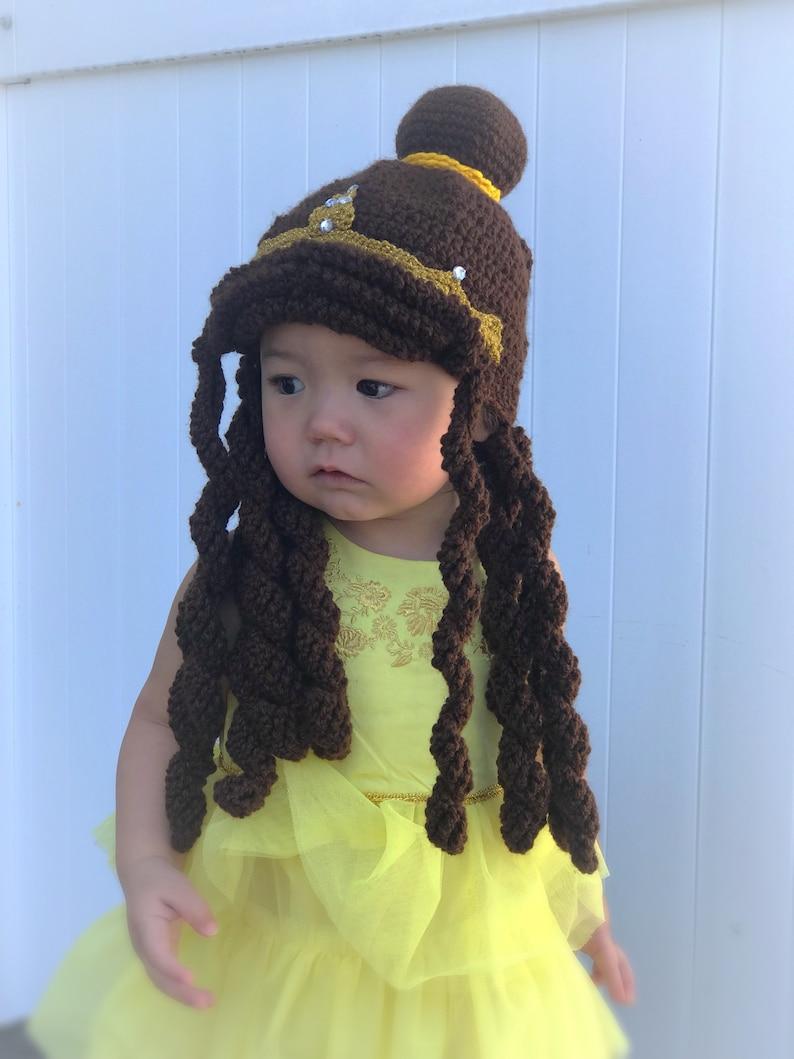 Kids Halloween Costume Belle Beauty and the Beast Hair Wig Disney Princess Belle Hair Toddler Baby