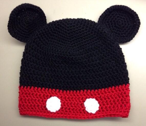 Häkeln Sie Mickey Mouse Hut Kinder-Halloween-Kostüm   Etsy