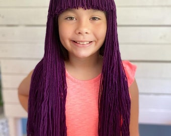 Disney Descendants 2 Mal Hair Wig -Halloween Disney Descendants Villain Mal Hair - Kids Halloween Costume - Toddler Baby