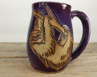 Sloth Mug 16 oz - Sloth Gift for Women - Mug Sloth Gift - Sloth Coffee Mug - Cute Teen girl Gift - Office Mug - Mesiree Ceramics