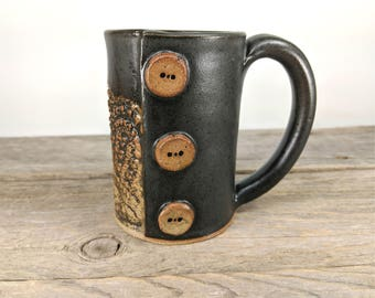 Lace Mug -  Bookishness and Tea - Tea Mug for Men - Modern Farmhouse - Large mug for Tea - Office Mug - Gift-for-Her - Mesiree Ceramics