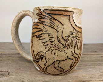 Pegasus Mug 16oz - Cute Teen Girl Gift - Unique Unicorn Mug - Large Mug for Tea- Book Lover Gift - Gift-for-Her - Mesiree Ceramics