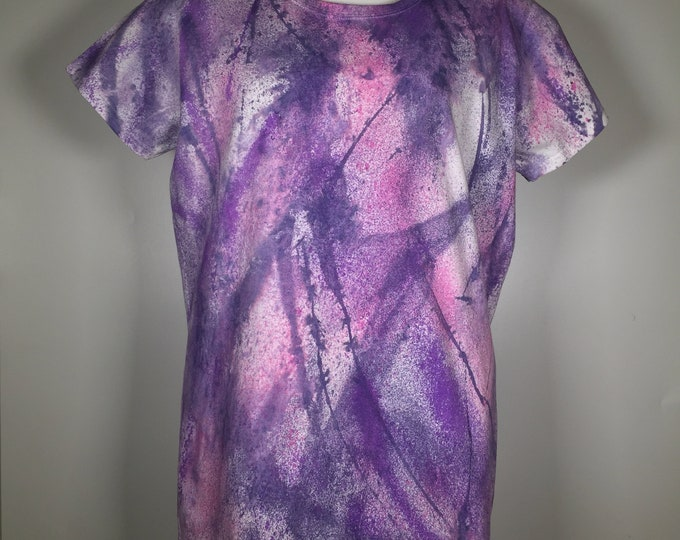 pink lavender all over .hand painted art wear ,size XL, casual to dressy, great for spring and summer, traveling, office, lunch meeting .