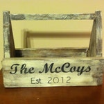 Farmhouse Primitive Personalized Wooden tool box