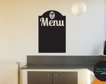Menu Chalkboard Vinyl Decal