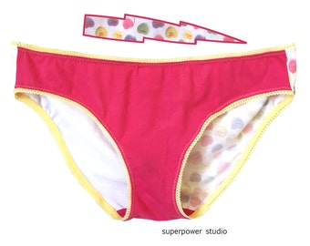 Halfhearted Small Upcycled Underwear * Women's 2-4 * Low Rise Bikini * Limited Edition Handmade Lingerie