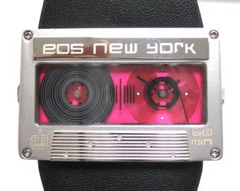 Women's Mixtape Watch in Fuschia