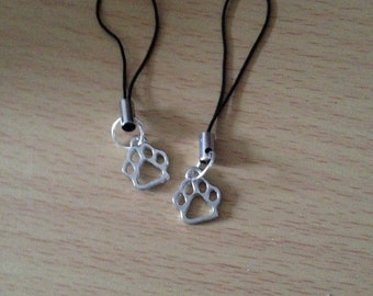Paw phone charm various colours