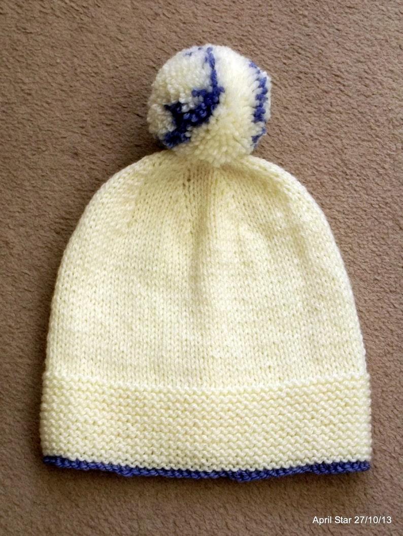 458490b07de Hand knit Aran bobble hat adult unisex various colours