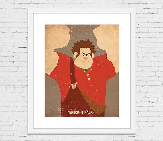 Poster 1 A4 /& A3 Wreck it Ralph