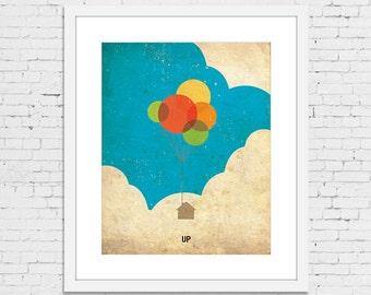UP Retro Minimalist Poster Print