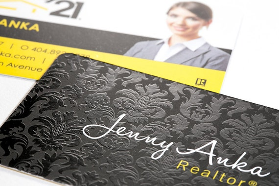 Luxury real estate business cards silk laminate with spot uv etsy image 0 colourmoves
