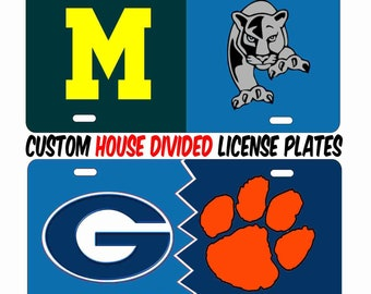 09f806c1af9c29 House Divided sports teams House United personalized custom novelty front  license plate decorative aluminum plate car tag