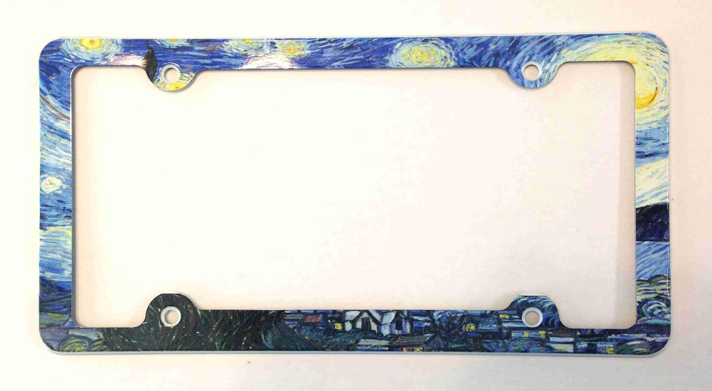 Van Gogh Sternennacht Nummernschild Rahmen dekorative | Etsy