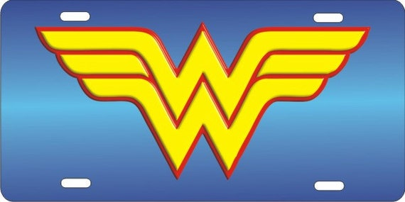 Graphics and More Wonder Woman Vintage Icon Novelty Metal Vanity Tag License Plate