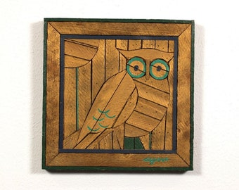 Theodore Degroot Vintage Wooden Picture from Portugal Flower LathArt Austin Productions 19.6 x 19.6-70s Folk Art