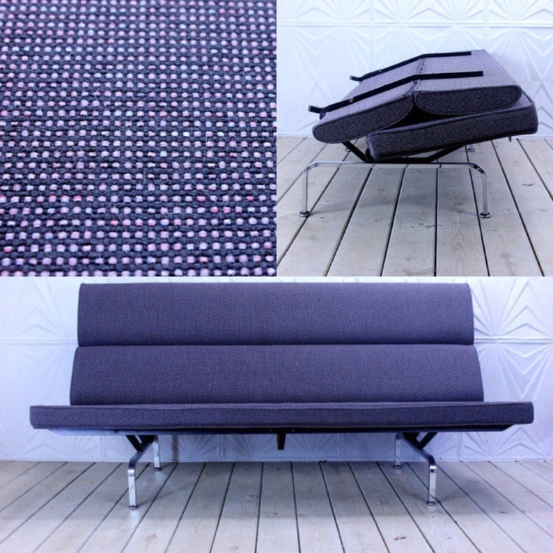 Vintage Herman Miller Eames Compact Sofa New Upholstery Etsy
