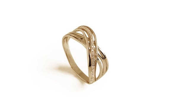 Infinity Knot Diamond Engagement Ring Love Knot Gold Ring Etsy