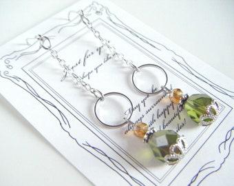 Olive dangling earrings, olive green earrings, beaded earrings, gift for her, earrings under 10, olive dainty earrings, beaded earrings.