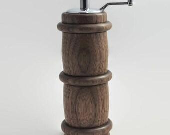 Pepper Grinder - Top Crank Pepper Mill - Handmade Pepper Grinder - Handmade Pepper Mill - Valentine's Day Gift  - Wedding Gift -
