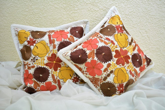 Guatemalan Pillow Covers White Off Throw Pillows Floral Etsy Stunning Guatemalan Pillow Covers