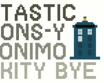 The Doctor's Phrases Cross-Stitch Pattern