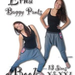 Us-Erna *** ebook PDF instant Download - hip trousers with side pockets sewing patterns size xs-xxl - ladies women teenager mrs.