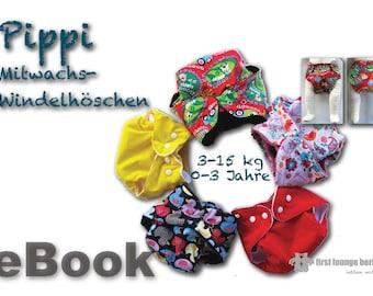 Pippi *** eBook Windelhose Schwimmwindel Windelhöschen für Baby von 0-3 Jahren Schnittmuster mit Nähanleitung Design by firstloungeberlin