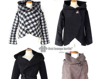 Martha *** eBook Jacke mit Kragen oder Kapuzenjacke in 5 Größen XS-XXL Nähanleitung mit Schnittmuster Damen Frauen Ladies Teenys Mode DOB