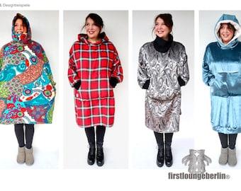 Big Hoodie Schlupfkleid Kapuzen-Hoody Kleid oversize One Plus Size Sweatshirt Unisex nähen von firstloungeberlin Schnittmuster & Anleitung