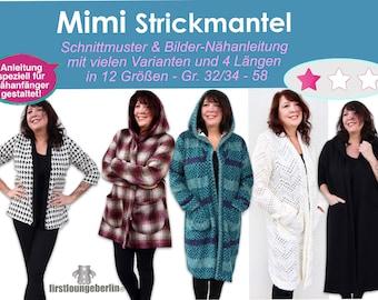 Mimi Strickmantel Wollmantel Lieblingsmantel Wohlfühlmantel Kuscheljacke Kuschelmantel - einfach nähen Schnittmuster firstloungeberlin -DIY