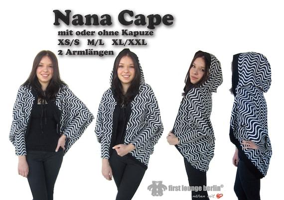 Nana eBook Cape Poncho Umhang in 3 Größen XS/S bis XL/XXL   Etsy